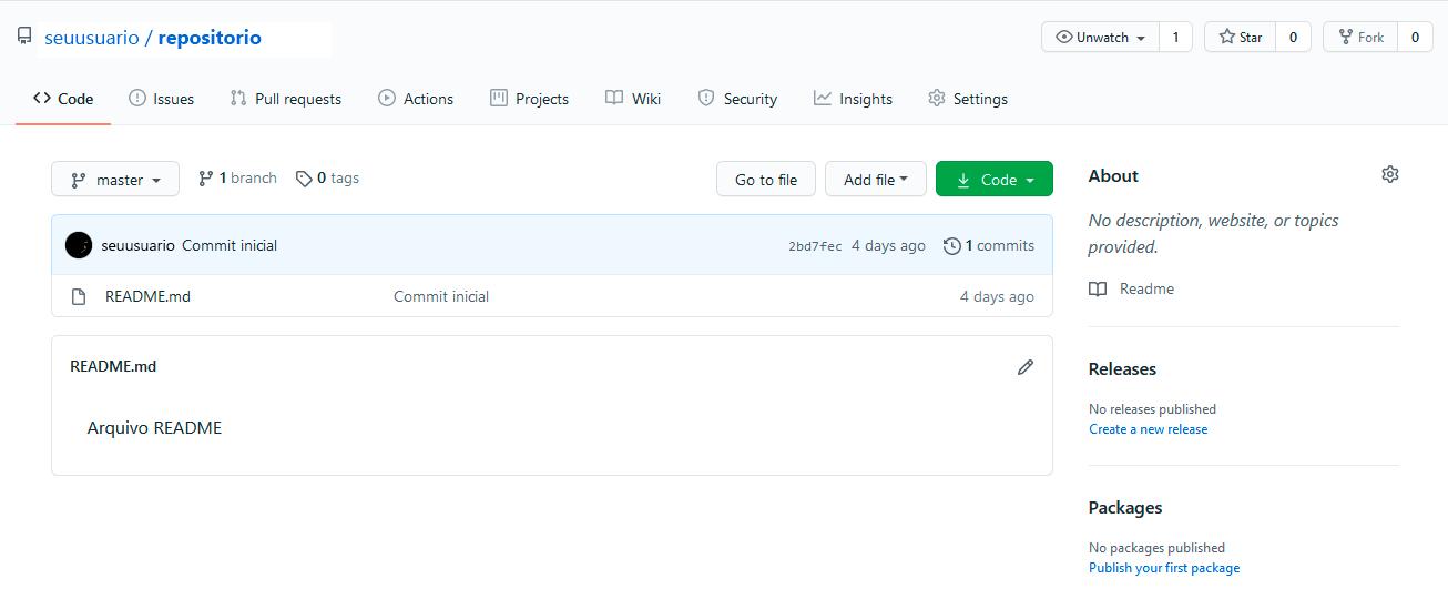 Repositório GitHub